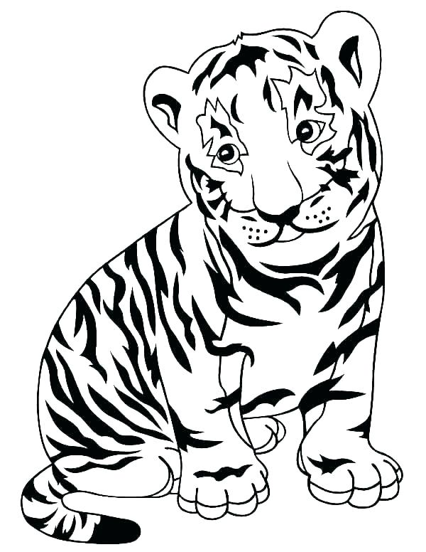 600x776 Coloring Pages Of A Tiger Tiger Tiger Coloring