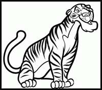 200x177 how to draw cartoon tigers realistic tigers drawing tutorials