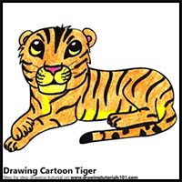 200x200 how to draw cartoon tigers realistic tigers drawing tutorials