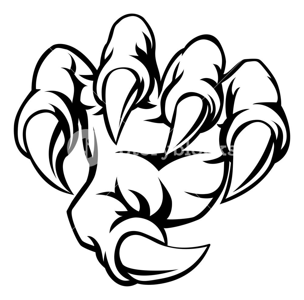 Tiger Scratch Drawing