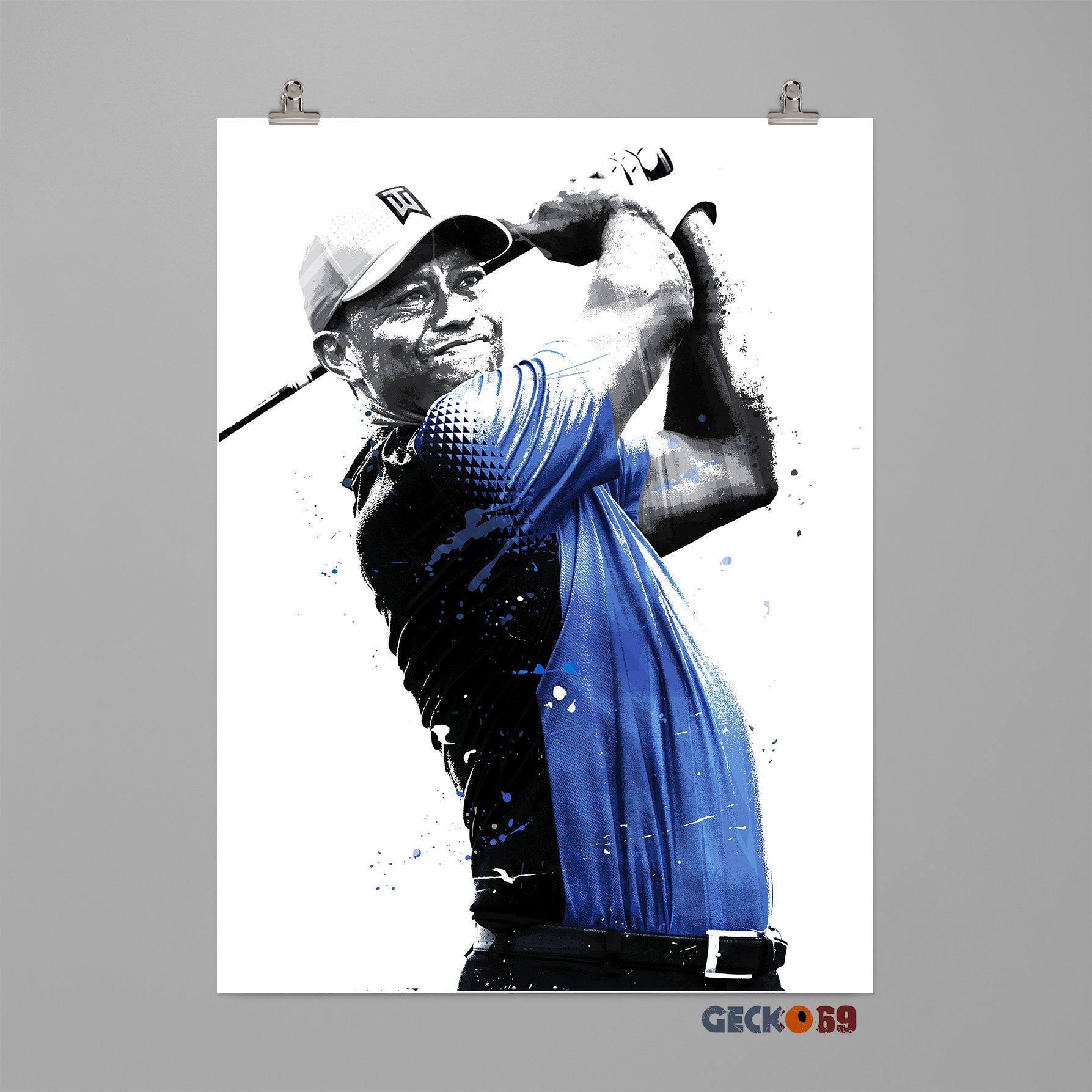 1787x1787 tiger woods poster golf poster print sports wall art dorm etsy