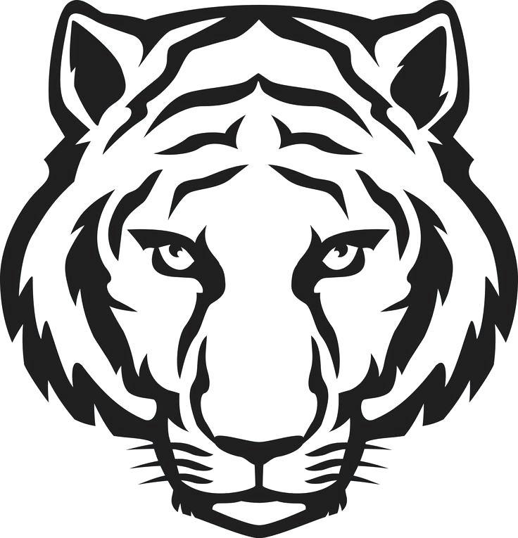 736x765 Tigger Outline Drawn Outline Tiger Face Outline Design