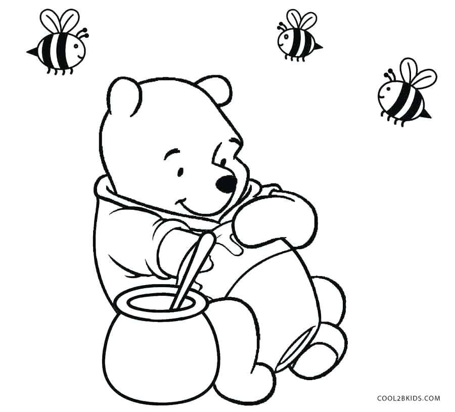 900x815 winnie coloring pages the pooh with honey coloring pages winnie