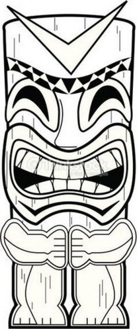 470x1128 tiki drawing tiki mask for free download