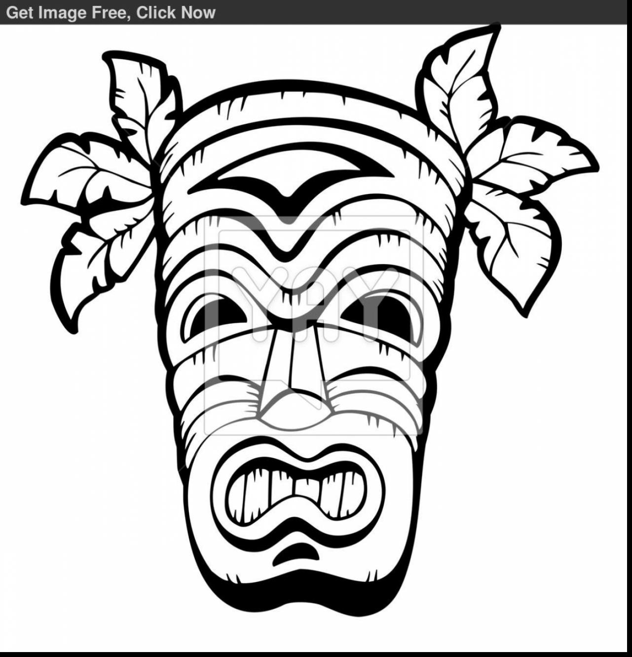 1281x1331 tiki coloring pages beautiful hawaiian tiki masks coloring pages