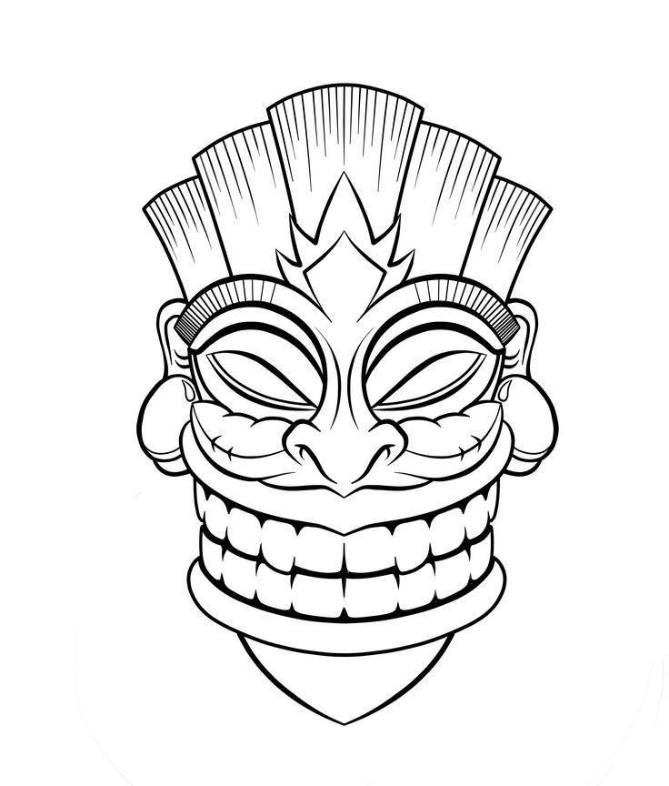 736x864 tiki mask coloring pages image result for drawing tiki