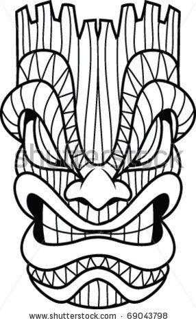 286x470 image result for tiki gods drawings carve tiki mask, tiki