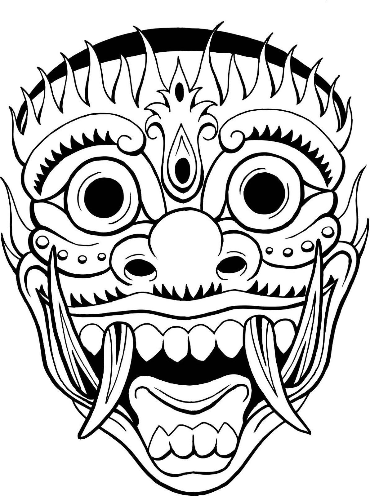 1193x1600 tiki drawing tiki mask for free download