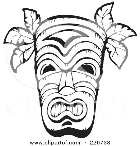 450x470 tiki mask coloring pages tiki faces coloring pages