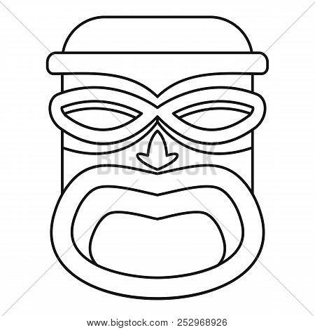 450x470 hawaii wood tiki idol icon outline hawaii wood tiki idol icon