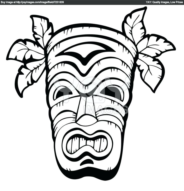 736x764 tiki coloring pages coloring pages with mask printable of c tiki