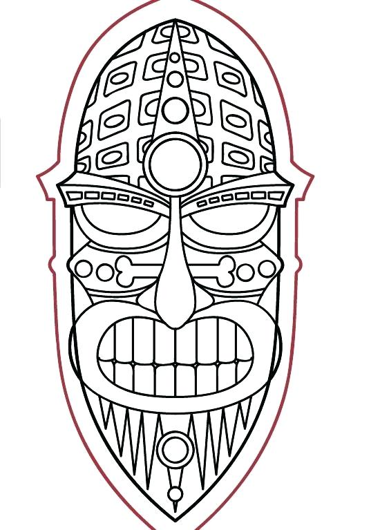 550x767 tiki coloring pages pix for mask coloring pages template free tiki
