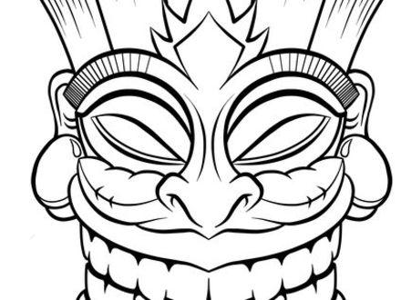 440x330 tiki mask coloring pages, pin tiki mask coloring