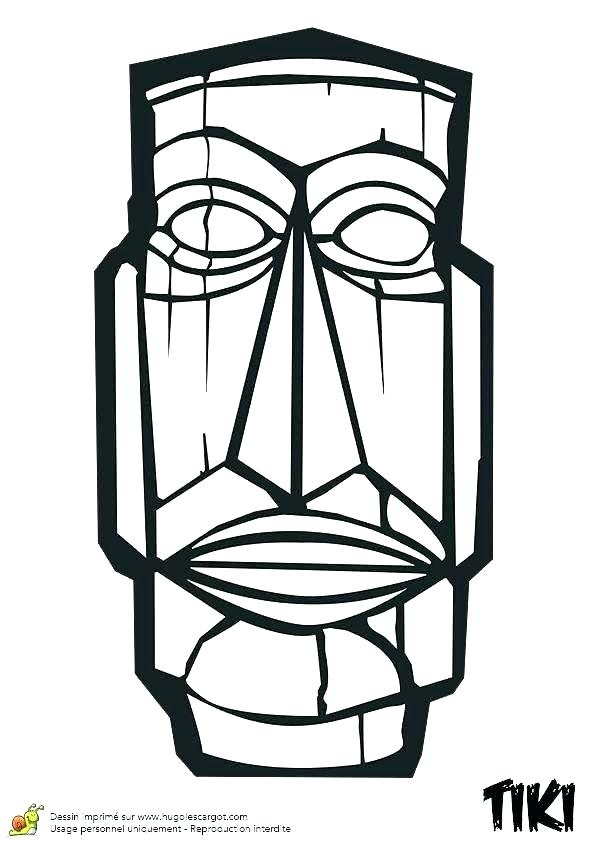 595x842 tiki coloring pages click the coloring pages free tiki mask