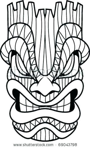303x498 tiki coloring pages coloring pages tiki totem coloring pages