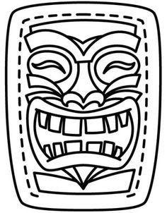 236x302 tiki mask coloring sheet luxury best tiki masks images