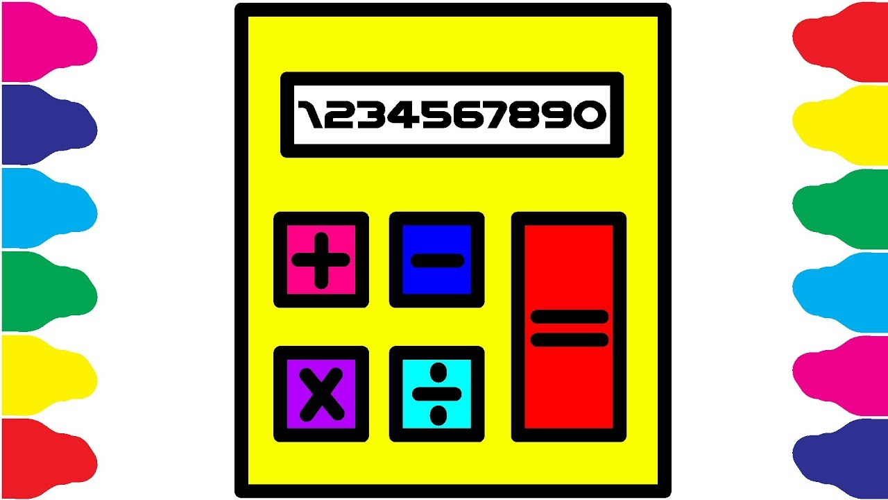 1280x720 how to draw calculator calculator coloring and drawing for kids