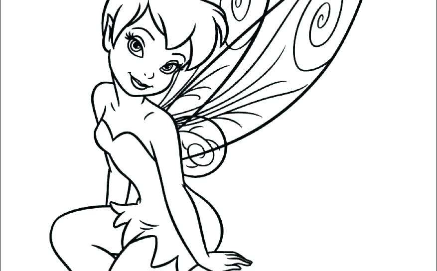 877x544 Tinkerbell Coloring Games