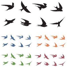236x236 Best Small Bird Silhouette Tattoo Images Bird Silhouette