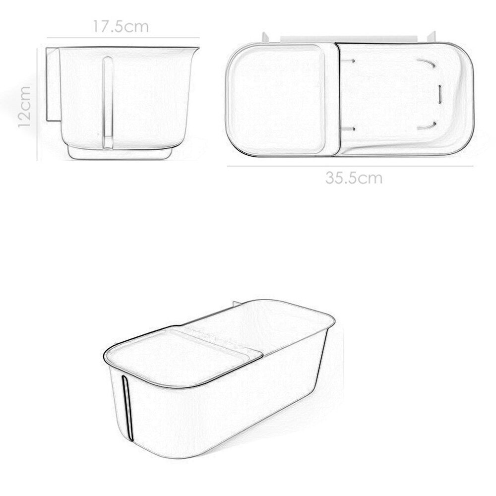 1000x1000 Dry And Wet Separation Bathroom Toilet Shelf Tissue Box Wall Type