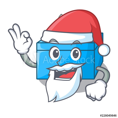 500x500 Santa Tissue Box Isolated On The Mascot