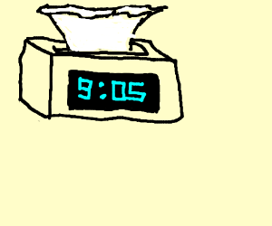 300x250 Tissue Box With A Digital Clock