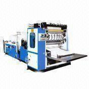 180x180 Box Drawing Facial Tissue Paper Machine With Screw Shear Knives