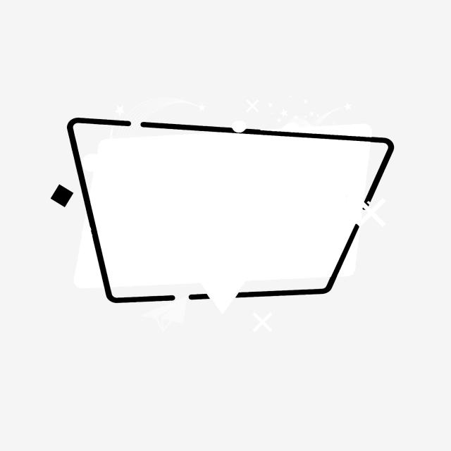 640x640 white border black border decoration download title decoration