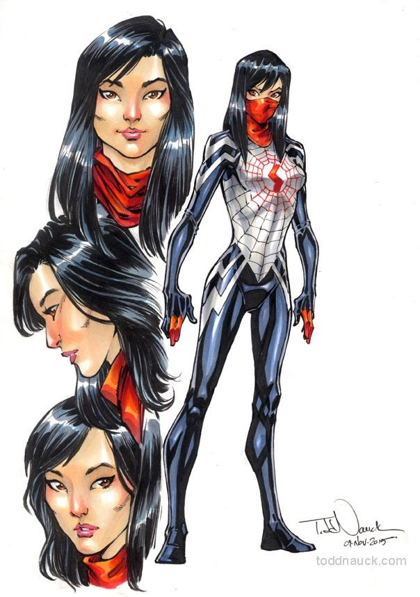 604x859 Toddnauck Character Study Of Silk In Prep For My Amazing Spider