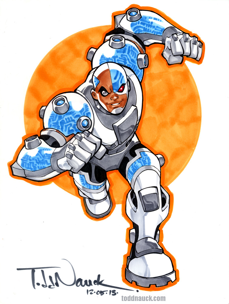 756x1000 Art Of Todd Nauck Cyborg, Teen Titans Go! Pigma Micron Markers