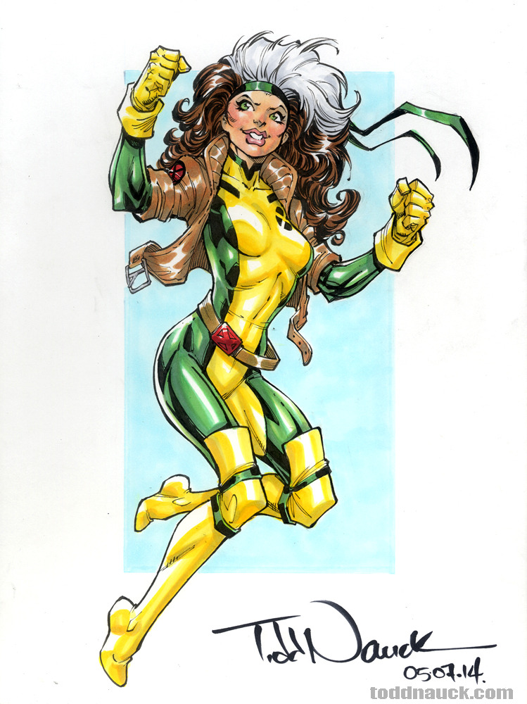 749x1000 Art Of Todd Nauck Rogue, X Men Pigma Micron And Copic Sketch