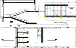 250x160 Stair Elevation Plan And Section Plan Detail Dwg