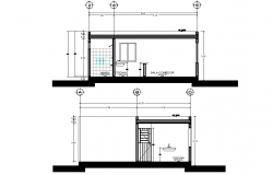 250x160 Toilet Plan And Section Detail Dwg