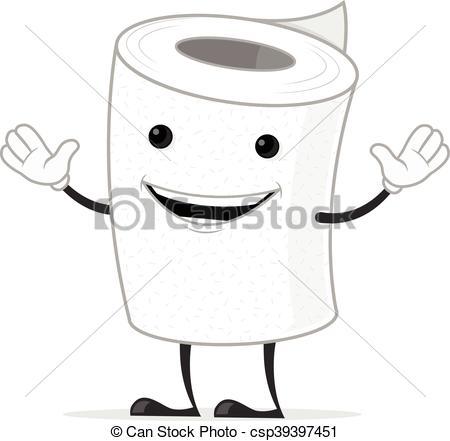 450x441 toilet paper toilet paper mascot cartoon character illustration