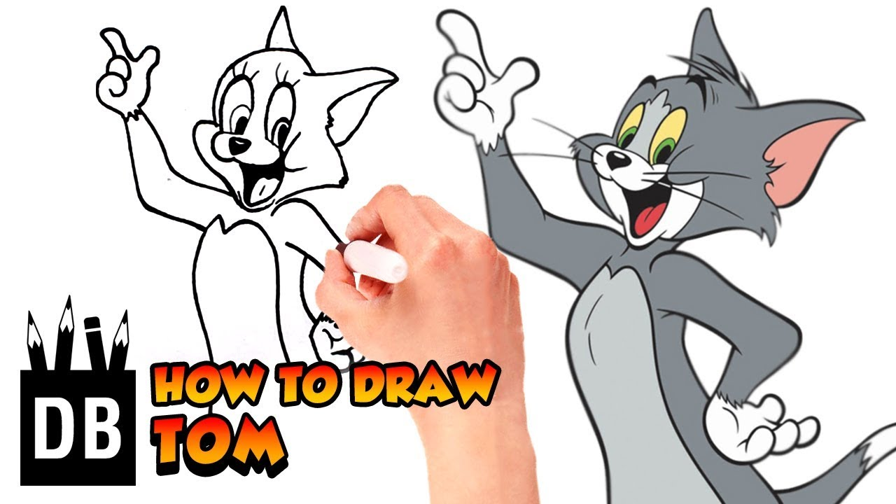 1280x720 How To Draw Tom From Tom And Jerry Kids