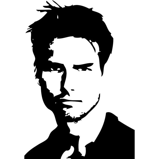 660x660 actor tom cruise vector portrait art vector portrait