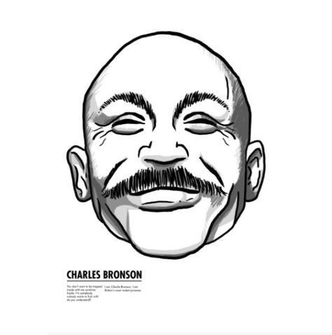 474x478 charles bronson cover an illustrated typographic cover
