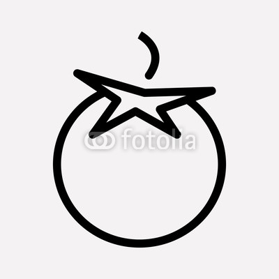 400x400 tomato icon line element vector illustration of tomato icon line