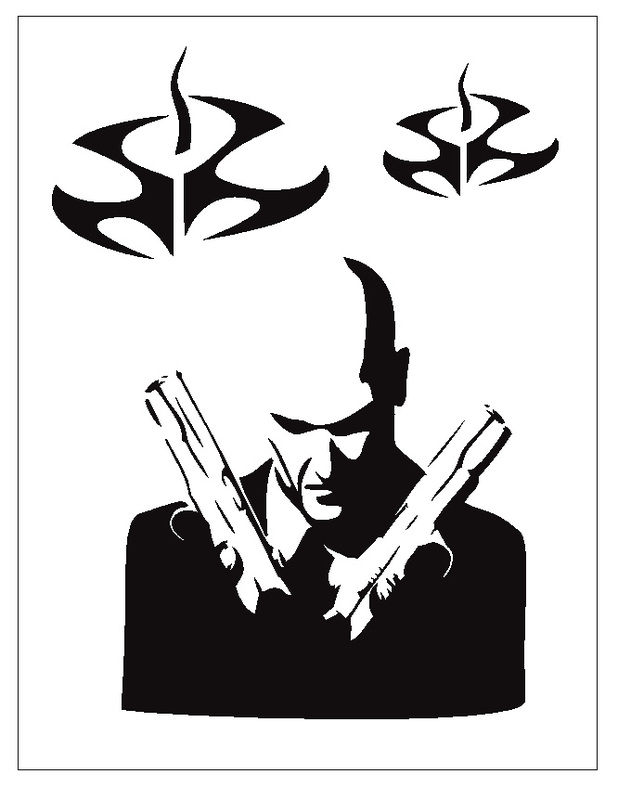 618x800 Scarface Drawing Stencil For Free Download
