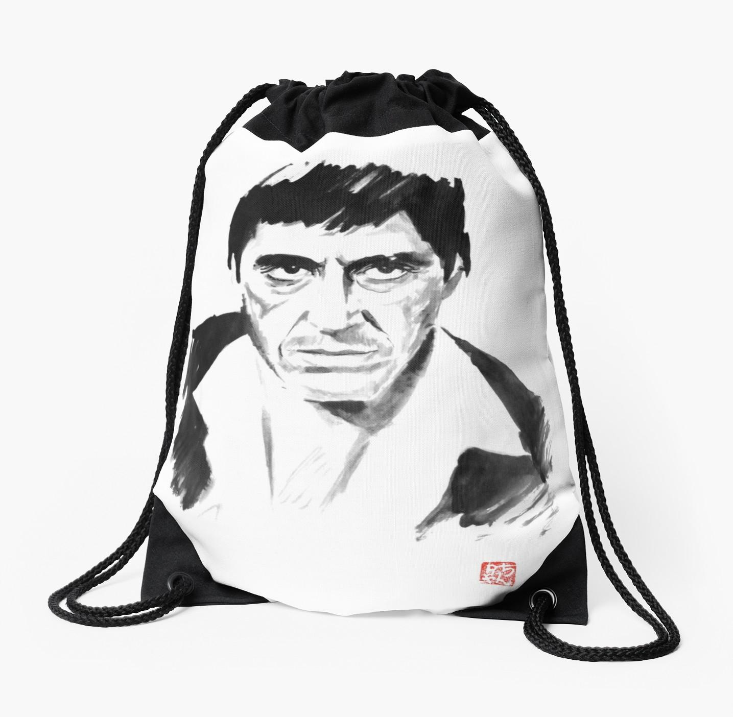 1435x1404 Tony Montana Drawstring Bag