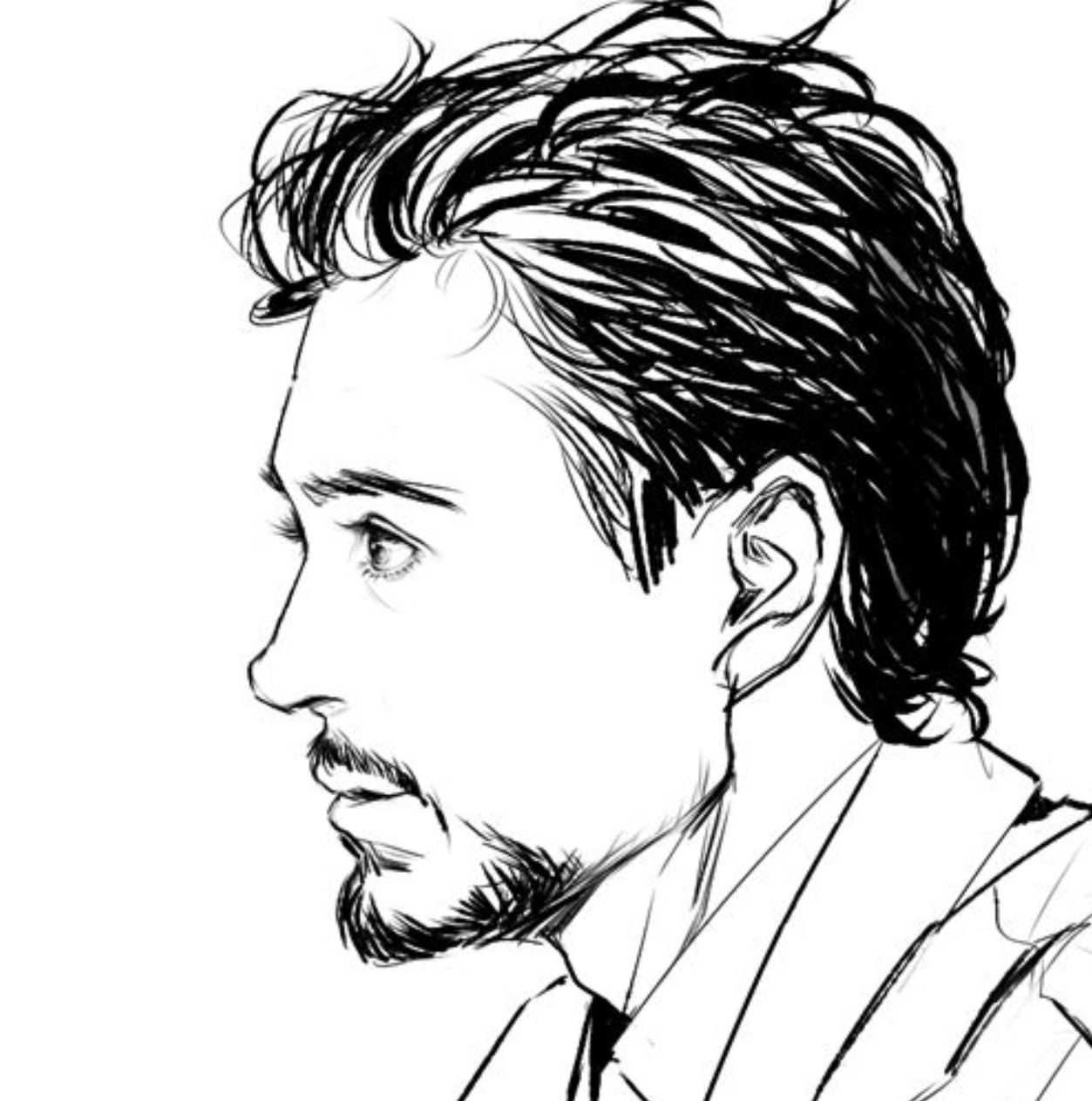 Tony Stark Drawing Free Download On Clipartmag