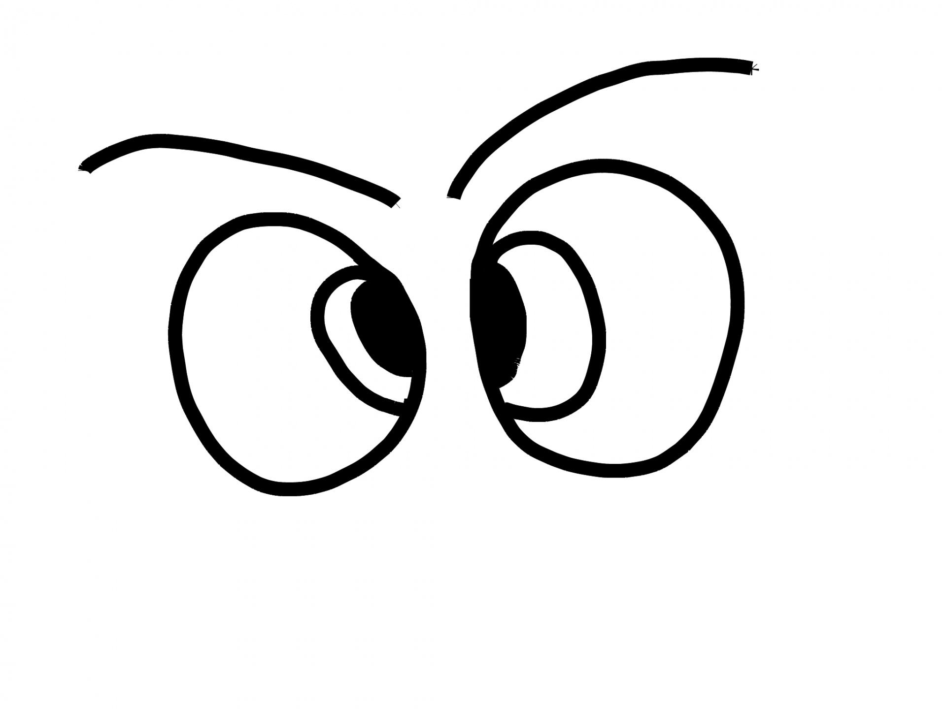 1920x1440 Eyes, Cartoon, Toon, Drawing, Sketch