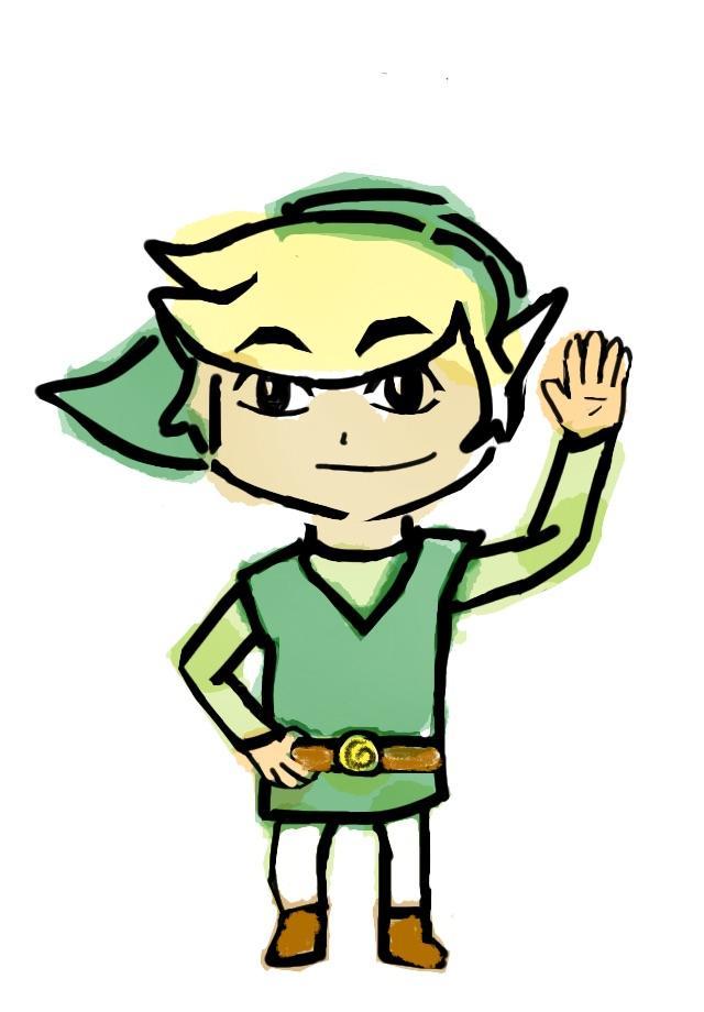 640x920 Quick Toon Link Digital Drawing Zelda