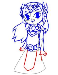 236x302 Draw Toon Zelda, Step