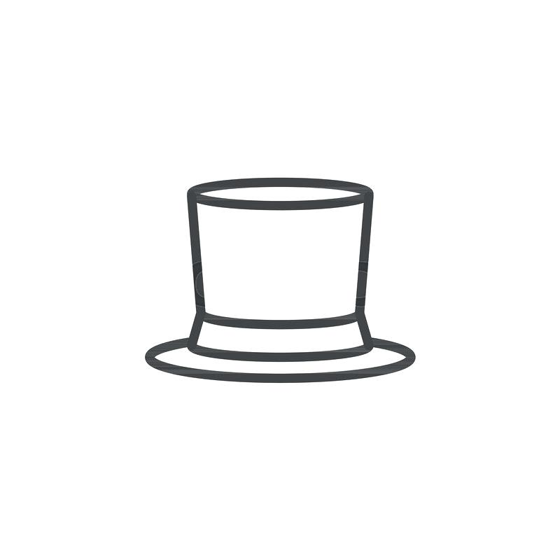 800x800 top hat outline top hat black and top hat outline free