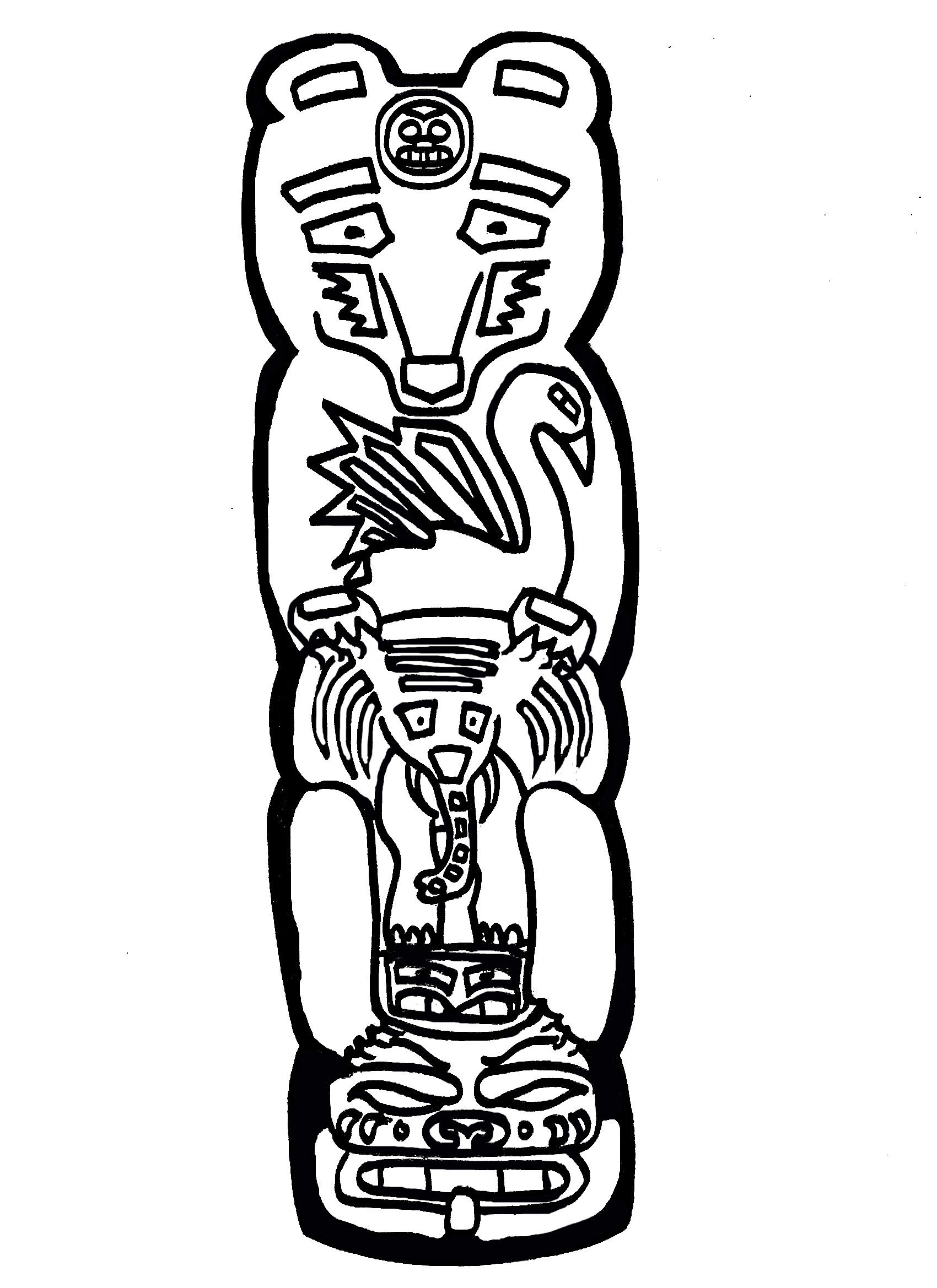 Totem Pole Drawing Free Download Best Totem Pole Drawing On