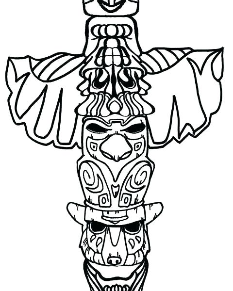image relating to Totem Pole Printable known as Totem Pole Drawing Absolutely free down load easiest Totem Pole Drawing