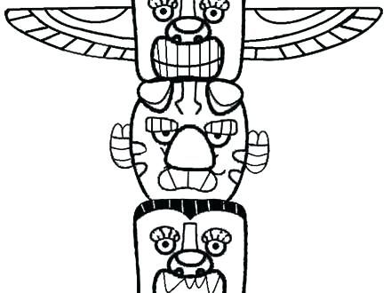 Totem Pole Drawing | Free download on ClipArtMag
