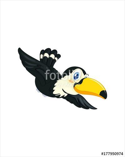 400x500 Amazingly Beautiful Bird Toucan Vector Drawing Stock Image