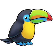 220x220 toucan fluff favourites cute animal drawings, cute animal